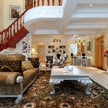 18万打造184平复式4居奢华欧式装修