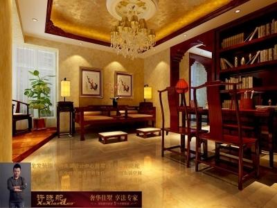 龙发装饰首席设计师许晓舵-名门华都200平米宫廷中式风格卧室