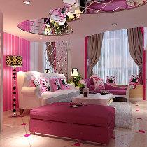 粉色Hello kitty诱惑现代简欧风格2层复式