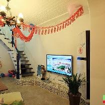 两室两厅160㎡跃层地中海婚房实景赏析