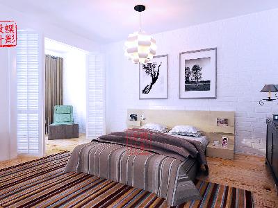 北欧简约大宅设计——卧室