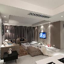 140平咖啡色婚房演绎温馨舒适三居室!