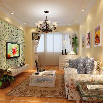 85平米的美式田图风格,体现整体环境温馨柔和