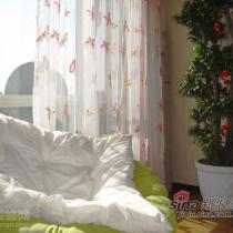 客厅的窗纱,绣着我喜欢的蝴蝶,边上是老公最爱的雷达椅,的确非常舒服.花盆需要一个藤篮装起来,这样太难看,时间短,花盆大,还没有找到合适的