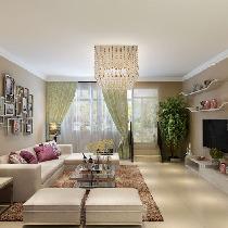 上海实创装饰打造浦东新区四居室现代小资情调装修效果图