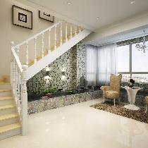 门厅及水系的设计,使整个会客厅显得大气不平凡,又生机盎然,是本案设计的亮点。
