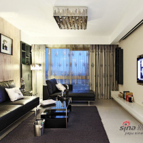 9万装110平黑白时尚空间 透过空间传达暖暖爱意