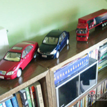 老公经常跑汽车的新闻,所以家里好多车模