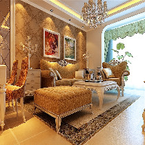 本案以客户的所选的家具为主要路线实行创作设计,典雅大方白色家居主题,色彩温馨大气,华丽镜片装饰和壁纸的花色使整个方案的感觉更加的高端大气上档次!