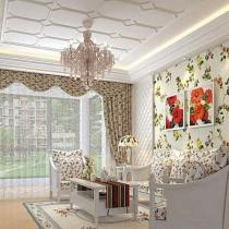 100平两居室韩式田园风格装修设计-方林装饰小奇