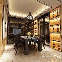 正商城117平夸张含蓄后现代装修三室两厅效果图——餐厅效果图
