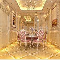 Q:1970197900**方圆经纬130平三室一厅简欧装修-餐厅