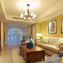 7.8w打造120平三室两厅浪漫美式风格