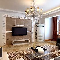 三口之家现代简约的温馨2居装修效果图