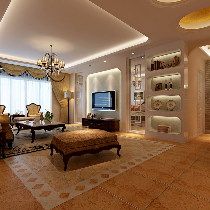 总参180平精简大气古典欧式三居装修案例