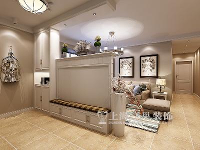东润泰和装修三室两厅时尚暖意北欧样板间——玄关布局