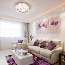 76平紫色时尚浪漫婚房 贤妻精心布置温馨港湾