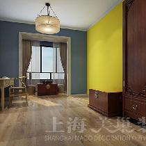 维也纳森林140平三室现代装修简约无印良品风——书房休闲区