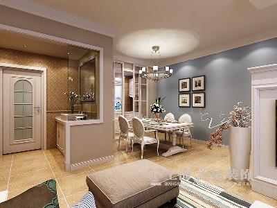 东润泰和装修三室两厅时尚暖意北欧样板间——餐厅布局