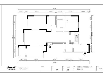 长沙实创装饰-阳光锦城143平|现代时尚|三室两厅装修设计图