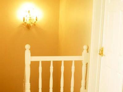 卧室的门关上就是这里了~~最后留个影,虽然对面墙上的灯看不清,但我发誓那是一盏很美丽的灯~哈哈