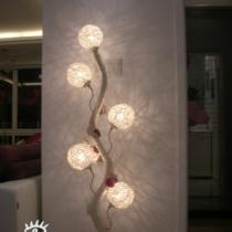 """喜欢这个灯朦胧的感觉,取名为""""愿望树""""上面挂满了同学朋友给我的祝福:)"""