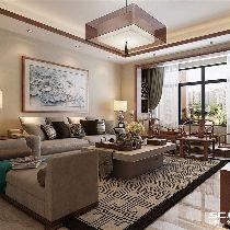 【上海实创装饰】浦江颐城尚院125平新中式三居之家
