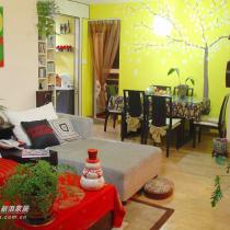 这张最能体现家的主色调,奔放的红色和炫目的黄色