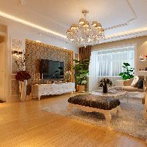 奢华欧式风装修102平米演绎丽都壹号2居室的典雅风情