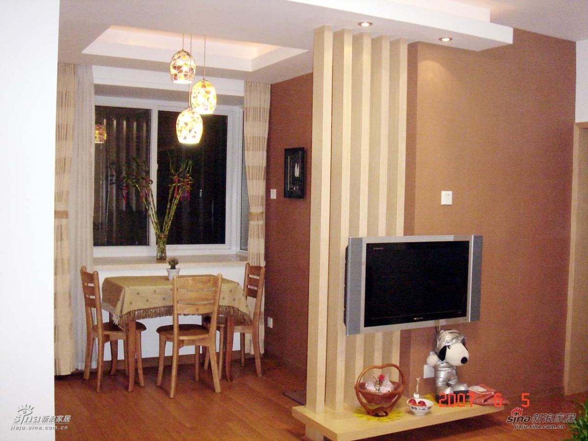 电视墙~,巧妙的把客厅和餐厅分开