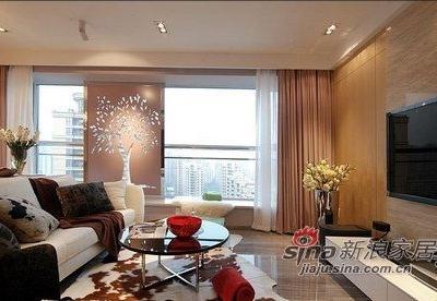 客厅的整体效果,奢华但是却不失温馨。