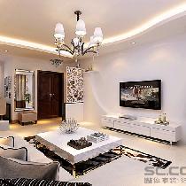 秦皇岛实创7万打造98平简约时尚两居室