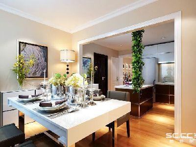 餐厅中点缀着写绿植,总让人有焕然一新的感觉和勃勃生机的氛围,绿色  不仅能美化餐厅中的环境,还能吸收空气中的有害气体,所以添加绿植可以唤醒  整个空间的生机。