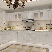 厨房选用格莱斯的瓷砖,瓷砖的色彩和图案丰富多样,防污效果好,但耐磨性不如通体砖,它分亮光和亚光两种,一般做厨卫及室内空间墙面使用。