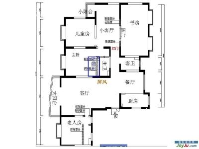 平面图,看这部装修案例,就一个字:房子是真大啊