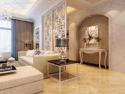玄关过道通透的玄关过道设计理念:通过玄关和客厅间的通透玄关使室内空间开敞、内外通透,在空间平面设计中追求不受承重墙限制的自由。
