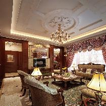 上海独栋别墅800平美式装修-高大尚高端生活品质