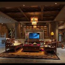 中式客厅装修携带文化的大气空间  装修咨询预约:13547851172  QQ:1401879218