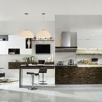 厨房or书房 质感开放式厨房中品味奢华