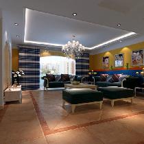 地中海风格142平米南苑北里三居室效果图装修,仅需14万!