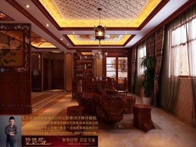 龙发装饰首席设计师许晓舵-名门华都200平米宫廷中式风格餐厅