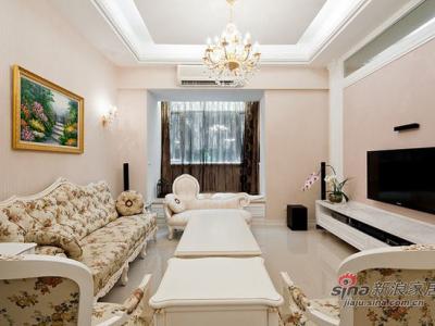 房子会呼吸 12万打造115平轻古典田园屋——沙发