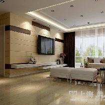 昌建誉峰三室两厅110平简欧装修效果图——电视背景墙