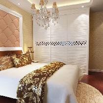 本案以整体功能实用为卖点,衣柜采用节省空间的推拉门形式。整套床体、床头柜都配合得恰当好处,整体的和谐色彩和舒适配搭,在省钱的同时让每一寸空间发挥得淋漓尽致。