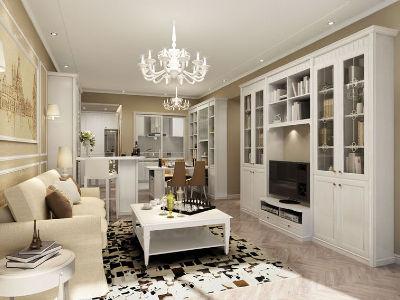 简欧家居风格从整体到局部、从空间到室内陈列塑造,都给人一种精美印象。