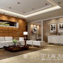 昌建誉峰三室两厅110平简欧装修效果图——沙发布局