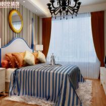荣和大地108平米地中海风格装修案例—主卧室2