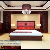 龙发装饰首席设计师许晓舵卓达太阳城别墅二楼主卧室