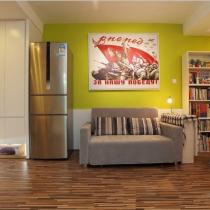 64平开放式空间 温馨大气的北欧风美家