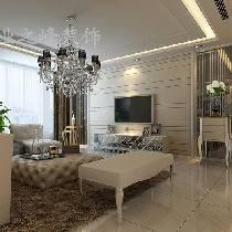 白桦林间144平米现代风格西安业之峰装饰